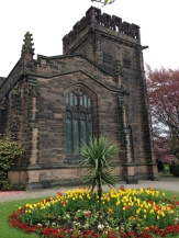 Christ Church with tulips
